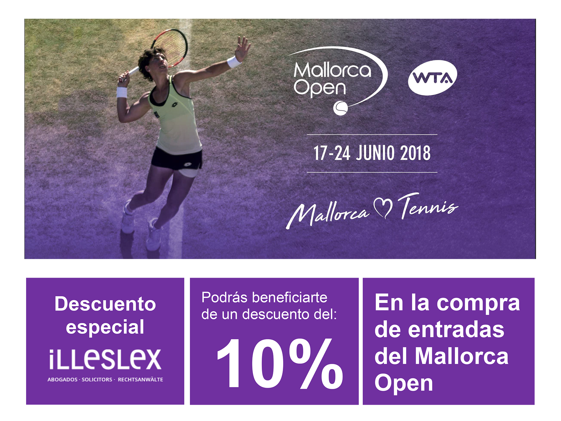 Illeslex, asesor legal del WTA Mallorca Open